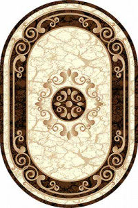Овальный ковер VISION DELUXE carving D045 CREAM-BROWN